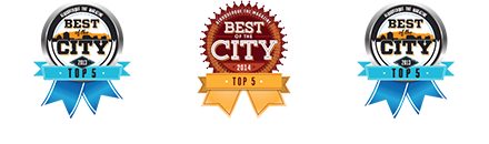 three top 5 best of the city awards